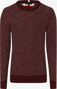 Czerwony sweter Tommy Hilfiger z dzianiny
