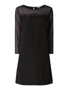 Sukienka Tom Tailor Denim z okrągłym dekoltem z szyfonu