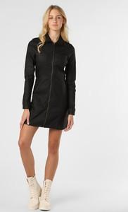Czarna sukienka Noisy May mini z kołnierzykiem