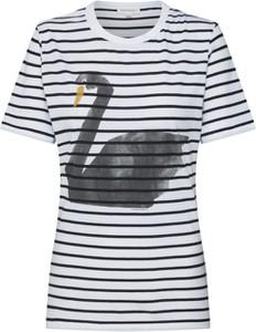 T-shirt ARMEDANGELS z okrągłym dekoltem z dżerseju z krótkim rękawem