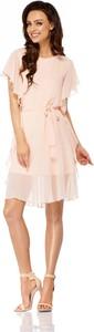 Sukienka Lemoniade z okrągłym dekoltem z krótkim rękawem z szyfonu