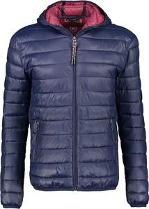 Granatowa kurtka Lerros krótka w stylu casual