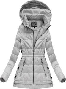 Speed.a pikowana kurtka z kapturem szara (w716-20big)