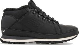Czarne buty zimowe New Balance sznurowane ze skóry
