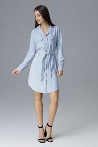 Sukienka Figl mini z długim rękawem koszulowa