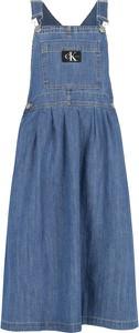Niebieska sukienka dziewczęca Calvin Klein
