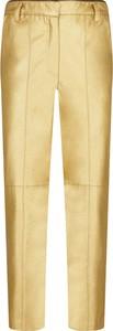 Żółte spodnie Pinko