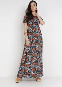 Sukienka born2be z dekoltem w kształcie litery v maxi w stylu boho