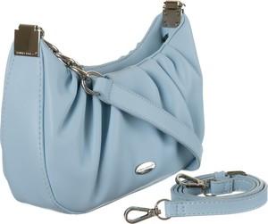 Niebieska torebka David Jones matowa w stylu glamour