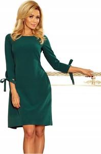 Zielona sukienka NUMOCO z okrągłym dekoltem w stylu casual