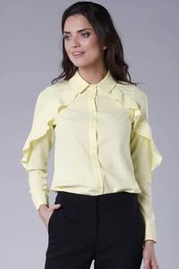 Żółta bluzka Nommo z długim rękawem