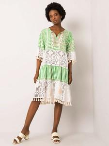 Sukienka Promese z długim rękawem w stylu boho mini