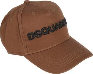 Brązowa czapka Dsquared2