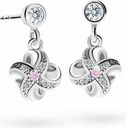 Cutie jewellery kolczyki dziecięce cutie c2262 białego, pink, puzeta