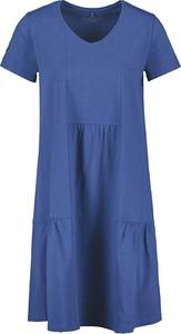 Sukienka Gerry Weber z bawełny w stylu casual z dekoltem w kształcie litery v