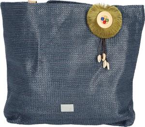 Niebieska torebka Verde w wakacyjnym stylu na ramię