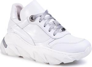 Buty sportowe Eva Longoria ze skóry sznurowane