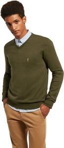 Zielony sweter Polo Club w stylu casual z bawełny