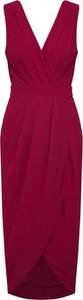 Czerwona sukienka Tfnc bez rękawów