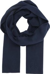 Niebieski szal męski Calvin Klein