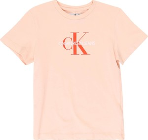 Różowa bluzka dziecięca Calvin Klein z tkaniny