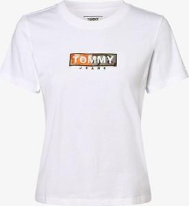 T-shirt Tommy Jeans z krótkim rękawem w młodzieżowym stylu z okrągłym dekoltem