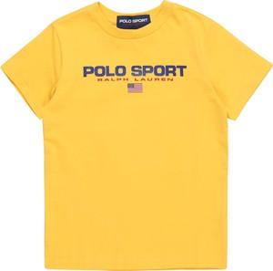 Żółta koszulka dziecięca POLO RALPH LAUREN z krótkim rękawem z dżerseju