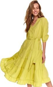 Sukienka Top Secret z długim rękawem w stylu casual midi