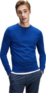 Niebieski sweter Tommy Hilfiger w stylu casual z wełny