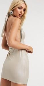 Złota sukienka In The Style mini
