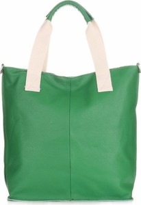 Zielona torebka Kristy X duża ze skóry w wakacyjnym stylu
