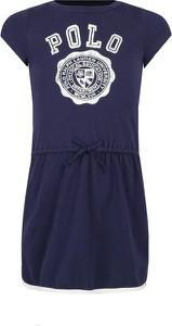 Granatowa sukienka dziewczęca POLO RALPH LAUREN