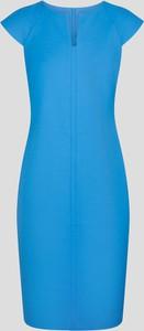 Niebieska sukienka ORSAY ołówkowa z tkaniny