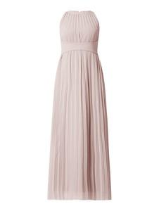 Różowa sukienka Apart Glamour maxi bez rękawów z szyfonu