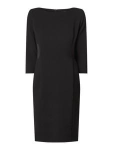 Czarna sukienka someday. w stylu casual mini z dekoltem w łódkę