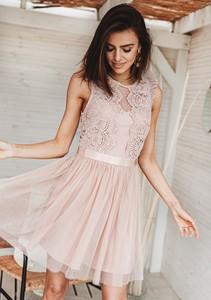 Sukienka Latika bez rękawów z okrągłym dekoltem rozkloszowana