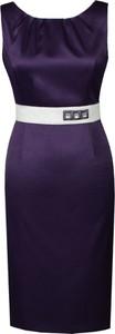 Fioletowa sukienka Fokus dopasowana
