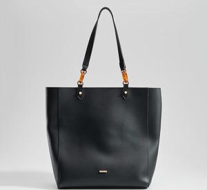 Czarna torebka Mohito duża w wakacyjnym stylu