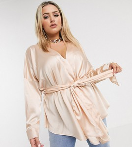 Złota bluzka Missguided Plus w stylu casual