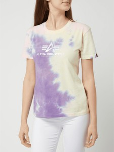 T-shirt Alpha Industries z krótkim rękawem z okrągłym dekoltem z nadrukiem