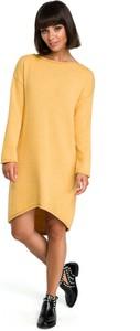 Sukienka BeWear asymetryczna z długim rękawem mini