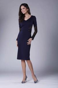 Sukienka Nommo z długim rękawem ołówkowa midi