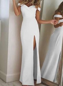 Sukienka Cikelly z odkrytymi ramionami z krótkim rękawem maxi