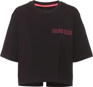 T-shirt Calvin Klein z krótkim rękawem z bawełny z okrągłym dekoltem