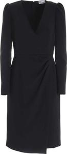 Czarna sukienka Valentino z dekoltem w kształcie litery v mini