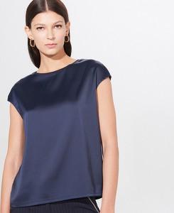 Niebieska bluzka Mohito z okrągłym dekoltem