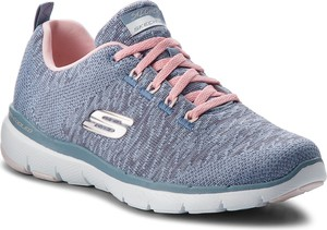 Niebieskie buty sportowe Skechers flex w sportowym stylu z płaską podeszwą