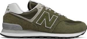 Zielone buty sportowe New Balance sznurowane 574