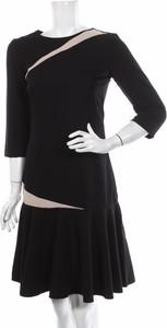 Czarna sukienka Rita Koss z okrągłym dekoltem