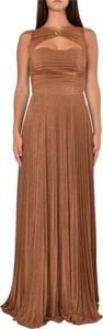 Sukienka Elisabetta Franchi z dżerseju maxi